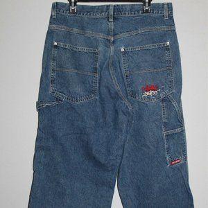 *Altered Vintage 90's JNCO Wide Leg Jeans H10106